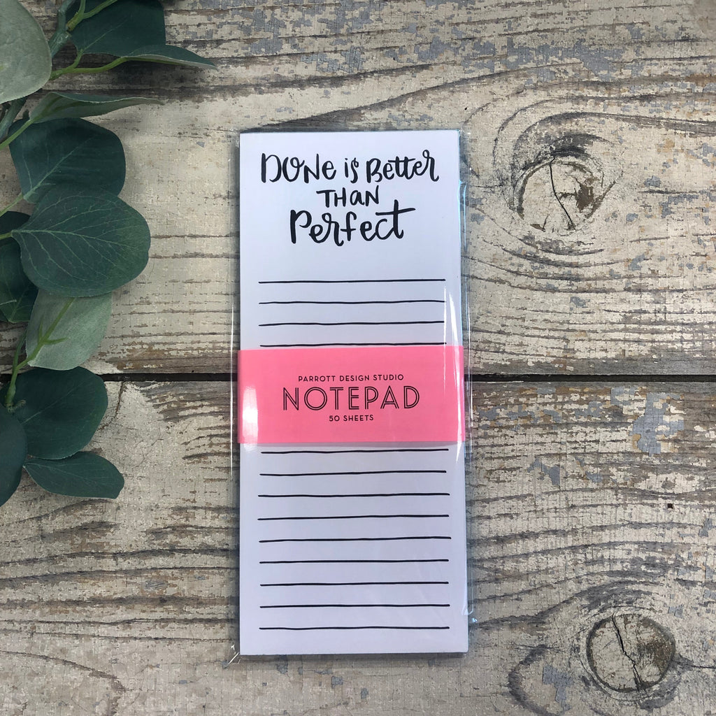 Parrott Design Studio - Done is Better than Perfect Notepad