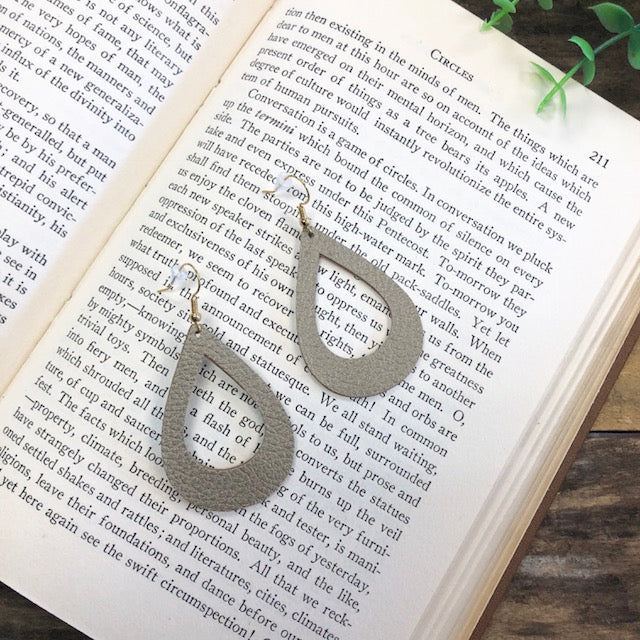 Duke & Jude Designs - Hollow Tear Drop Leather Earrings
