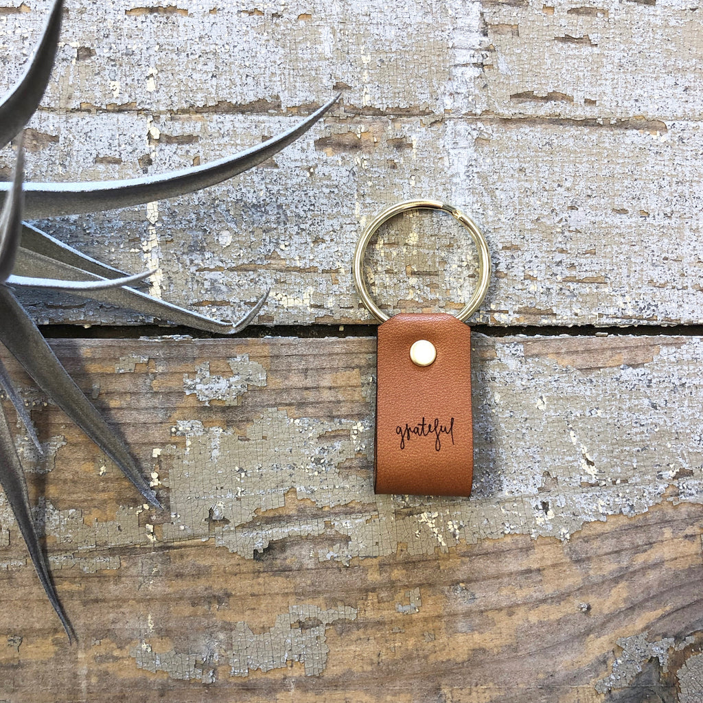 Laurel Denise - Lettered Leather Keychains