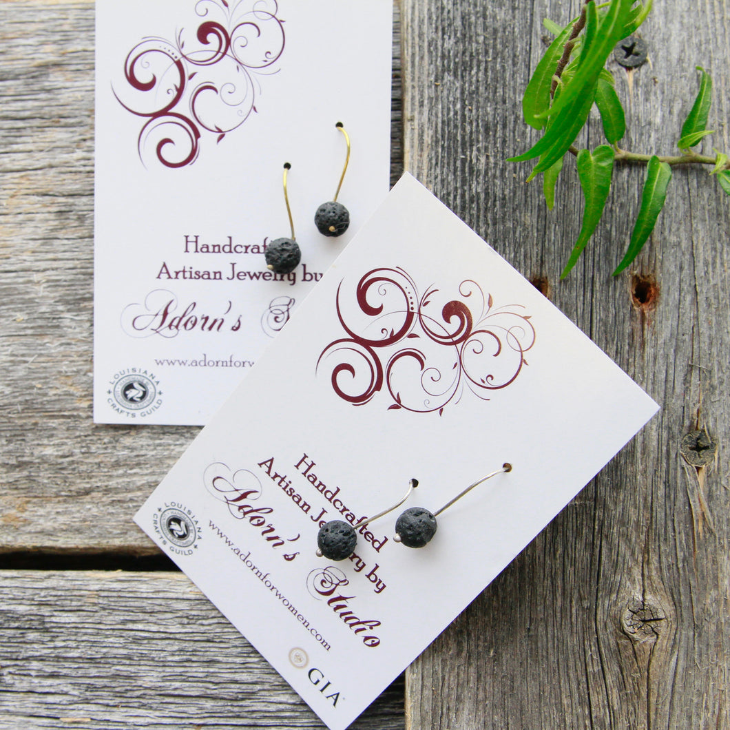 Adorn - Lava Rock Essential Oil Earrings