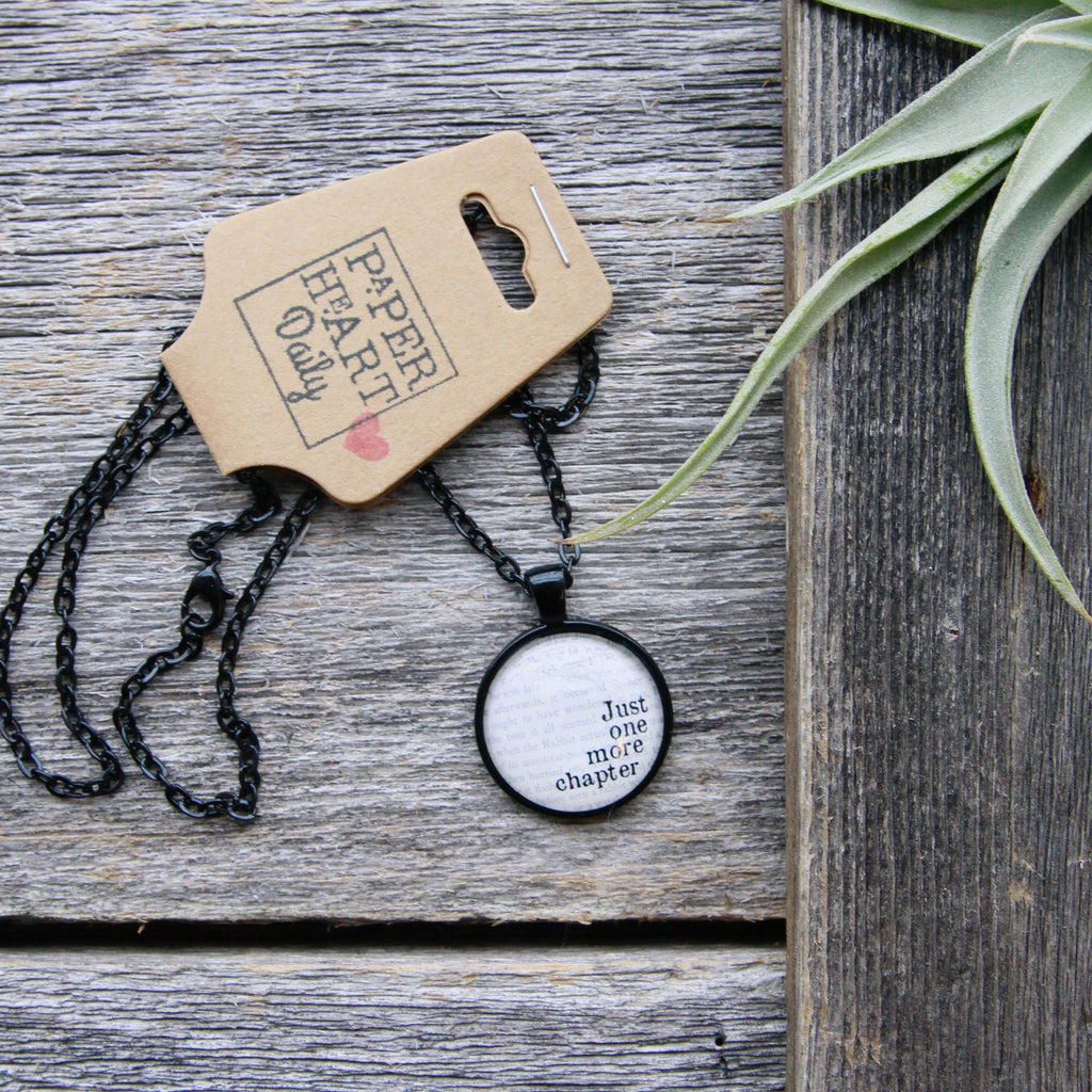 PaperHeartDaily - Book Necklaces