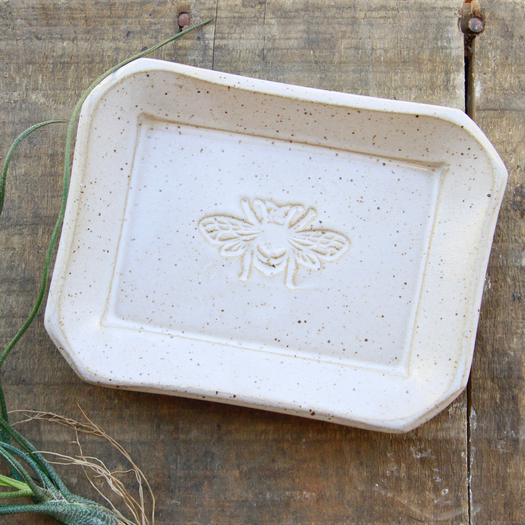 Barbarah Robertson Pottery - Bee Soap Dish
