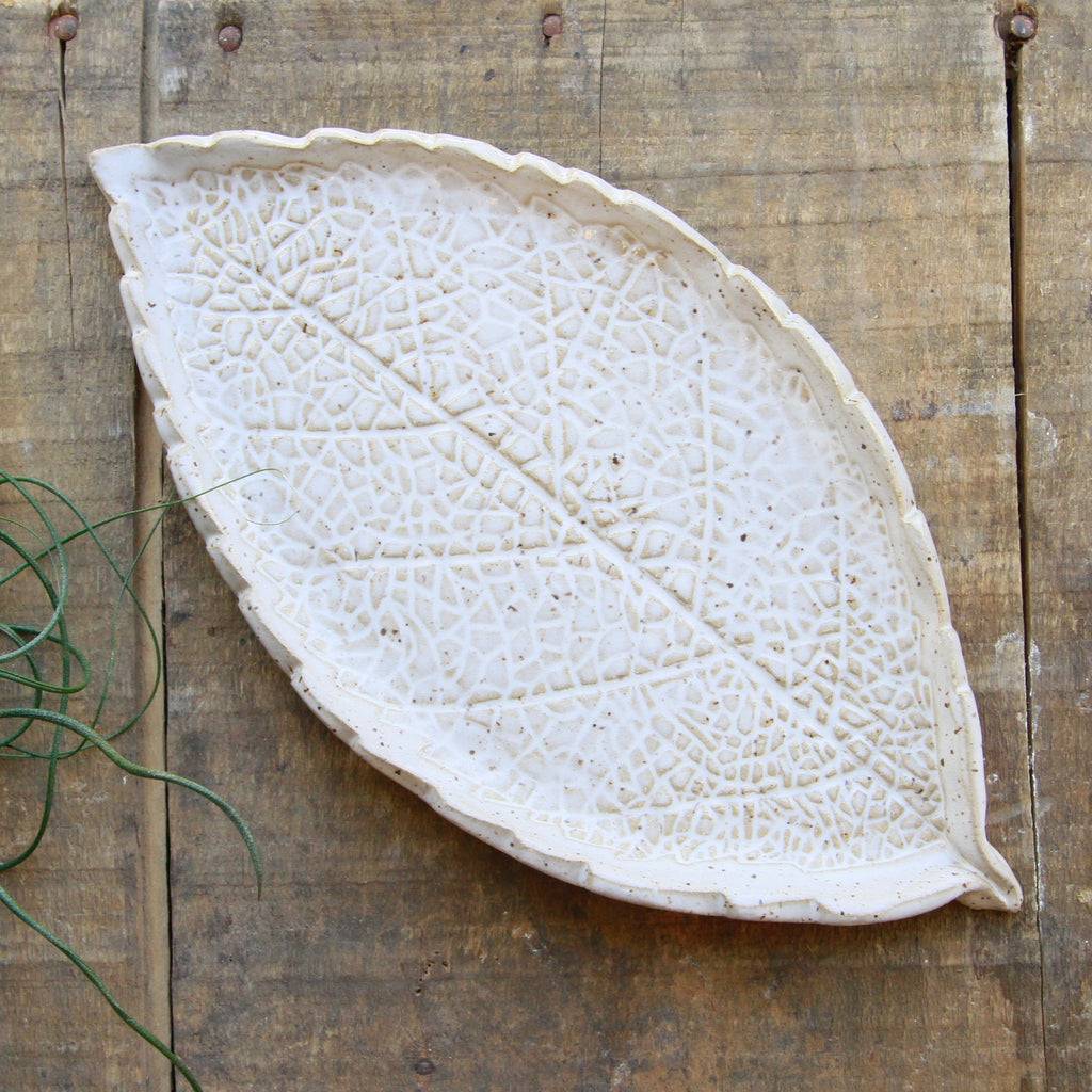 Barbarah Robertson Pottery - Leaf Pottery Plate