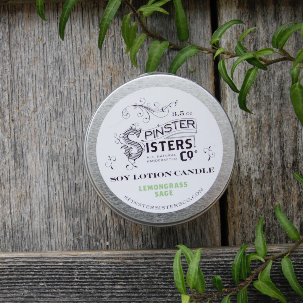 Spinster Sisters Co. - Soy Lotion Candle, 3.5oz