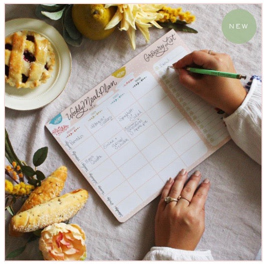 Lily and Val - Meal Planner Pad & Grocery List