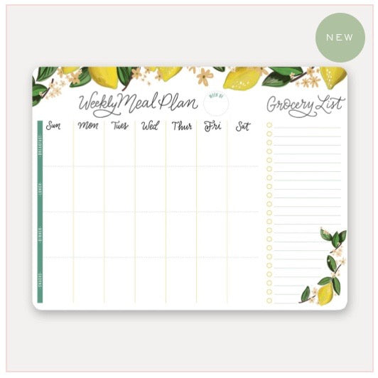 Lily & Val - Meal Planner Pad & Grocery List