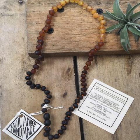 CanyonLeaf - Raw Baltic Amber Ombre Necklace