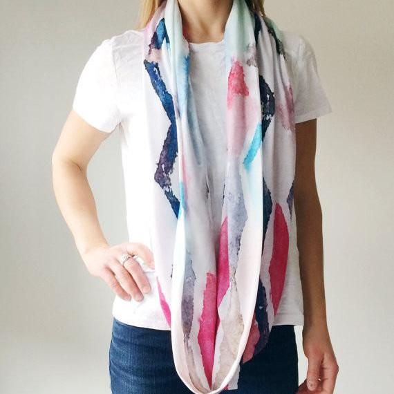 L Rempel Art - Abstract Art Scarf