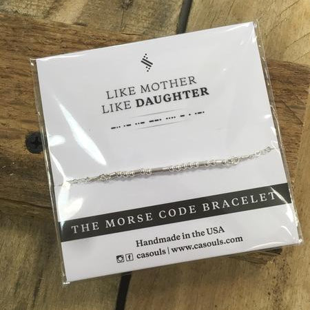 "CA Souls Morse Code Bracelet - ""Mother & Daughter"""