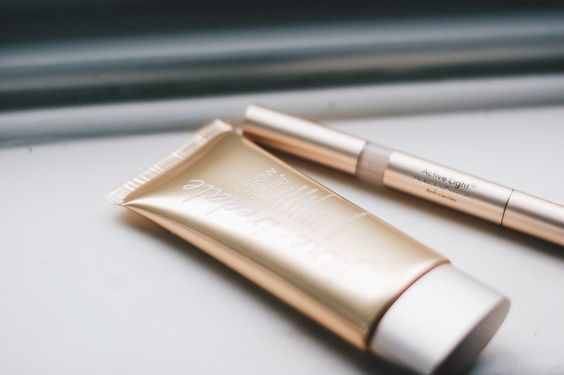 caption|Jane Iredale's BB Glow Time fuses full coverage with intense hydration.
