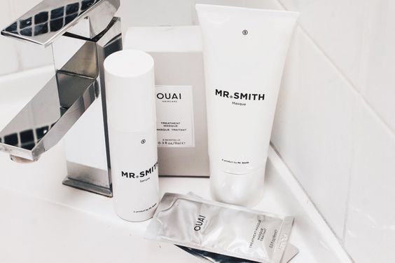 caption|Mr Smith's line of shampoos, conditioners, treatments and styling products