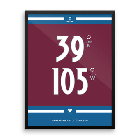 Colorado Avalanche <br>Framed Poster