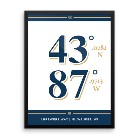 Milwaukee Brewers <br>Framed Poster