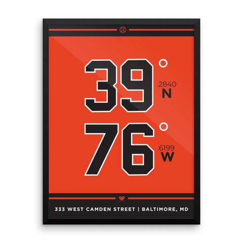 Baltimore Orioles <br>Framed Poster