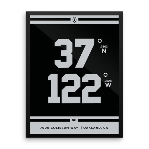 Oakland Raiders <br>Framed Poster