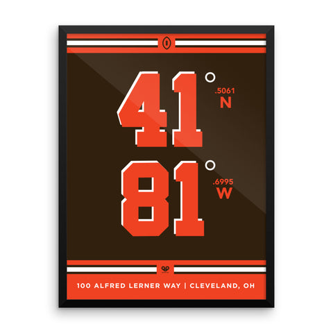 Cleveland Browns <br>Framed Poster