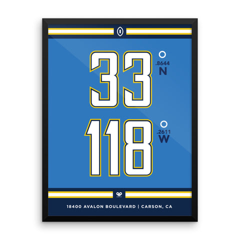 Los Angeles Chargers <br>Framed Poster