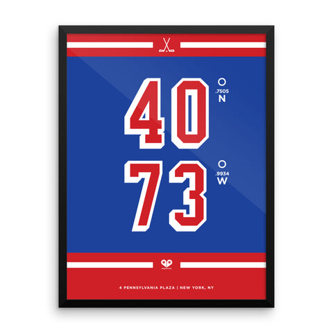 New York Rangers <br>Framed Poster
