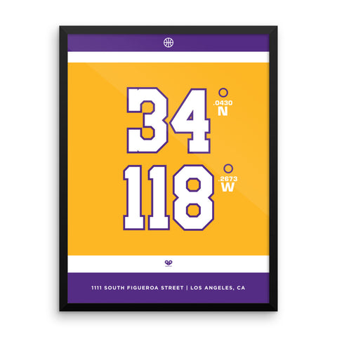 Los Angeles Lakers <br>Framed Poster