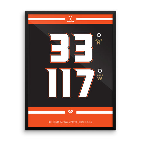 Anaheim Ducks <br>Framed Poster