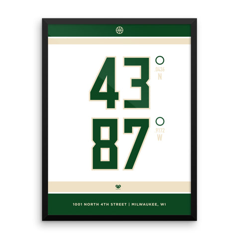 Milwaukee Bucks <br>Framed Poster