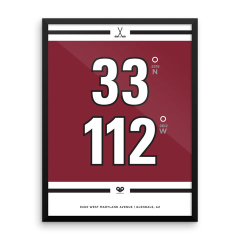 Arizona Coyotes <br>Framed Poster