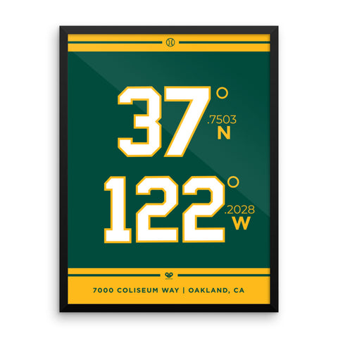 Oakland Athletics <br> Framed Poster