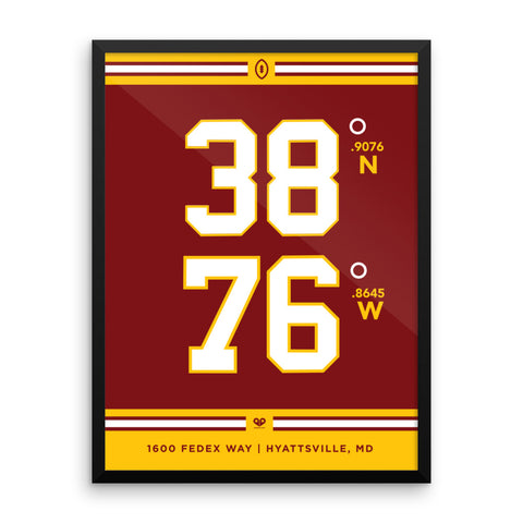 Washington Redskins <br>Framed Poster