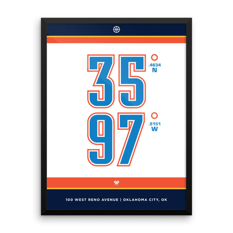 Oklahoma City Thunder <br>Framed Poster