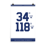 Los Angeles Dodgers <br> Unframed Poster