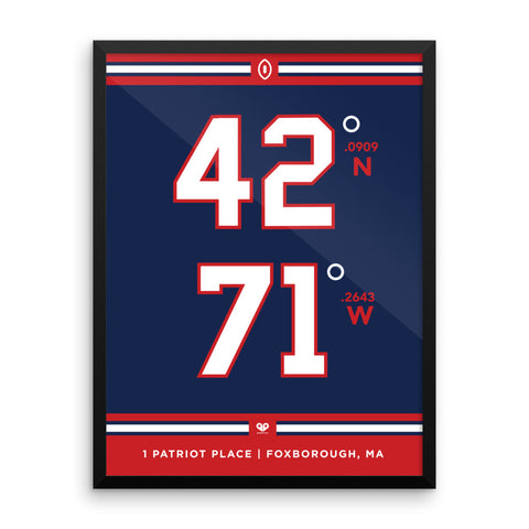 New England Patriots <br>Framed Poster