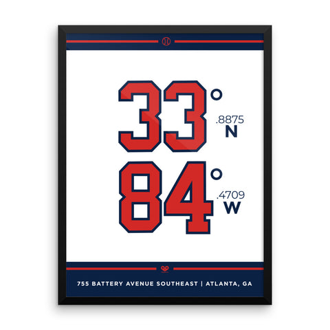 Atlanta Braves <br>Framed Poster