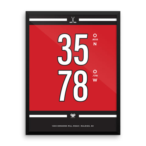 Carolina Hurricanes <br>Framed Poster