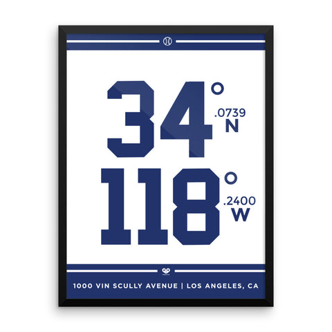 Los Angeles Dodgers <br>Framed Poster