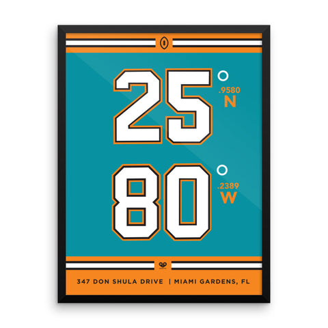 Miami Dolphins <br>Framed Poster
