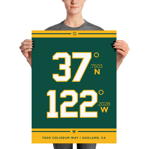 Oakland Athletics <br> Unframed Poster