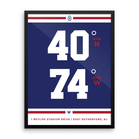 New York Giants <br>Framed Poster