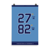 Tampa Bay Rays <br> Unframed Poster