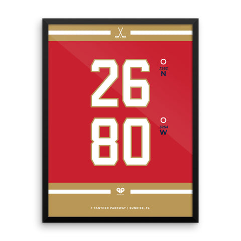 Florida Panthers <br>Framed Poster