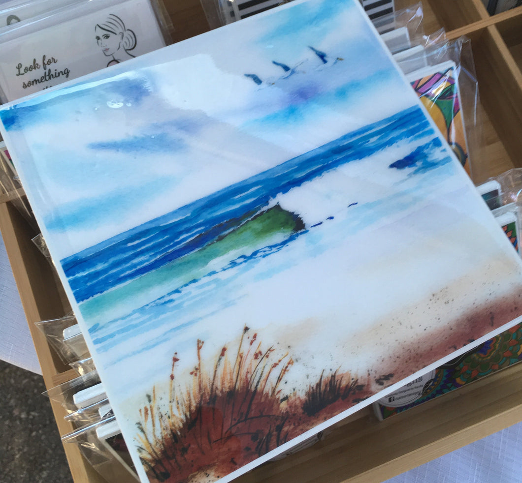 Art by Rosemary - Coastal Escape -Trivet