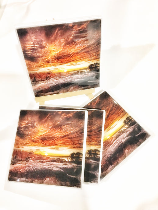Photography by Rod Evans Visual (Sunrise at Bay of fires) - Set of 4