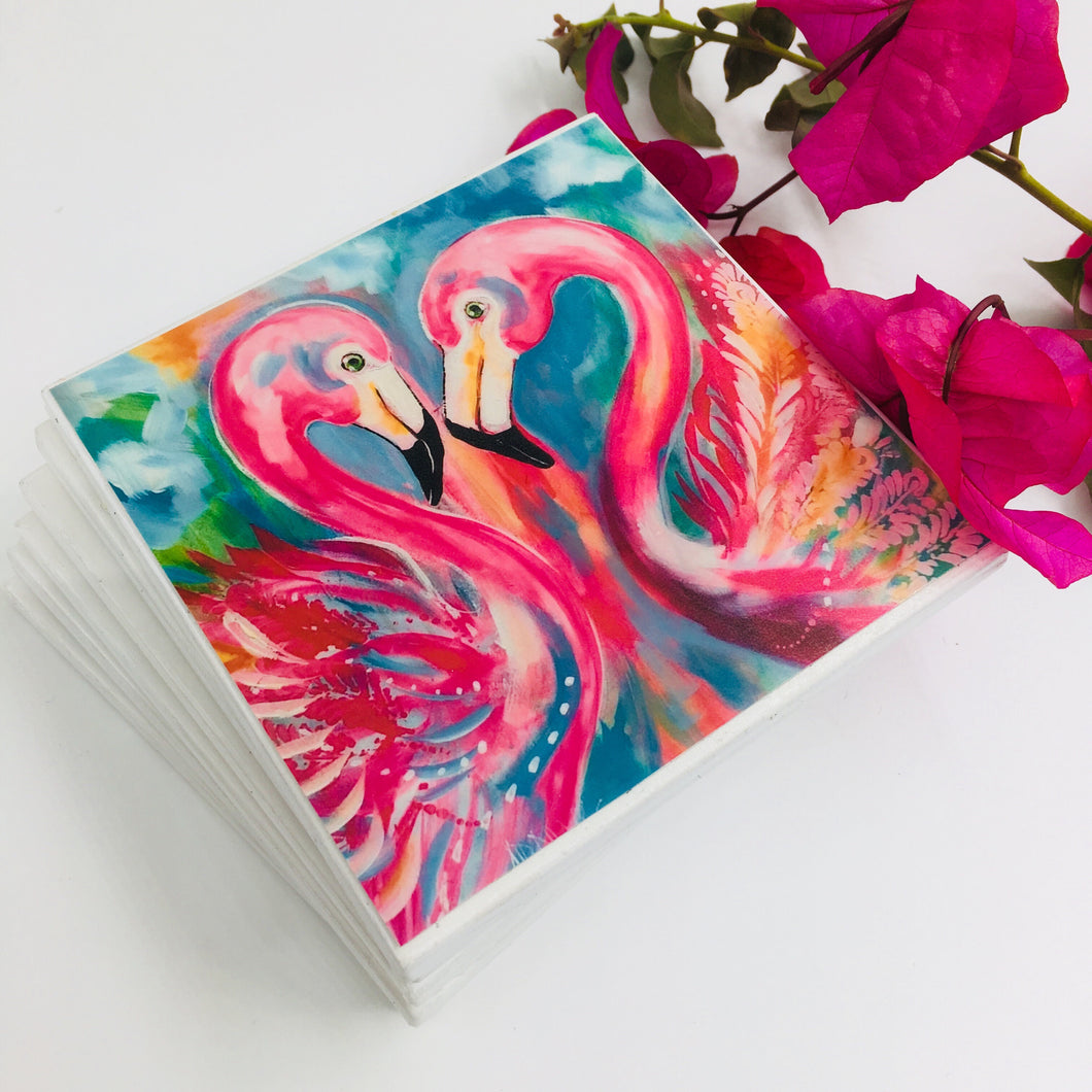 Art by Amanda Brooks (Flamingo Passion) - Set of 4