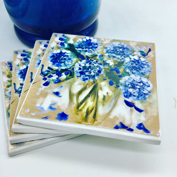 Art by Amanda Brooks (Hamptons hydrangeas) - Set of 4