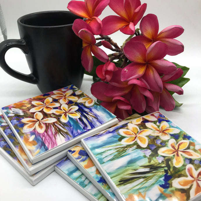 Art by Amanda Brooks (frangipani Mixed) - Set of 6