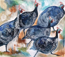 Guinea Fowl Race - Wall Art print