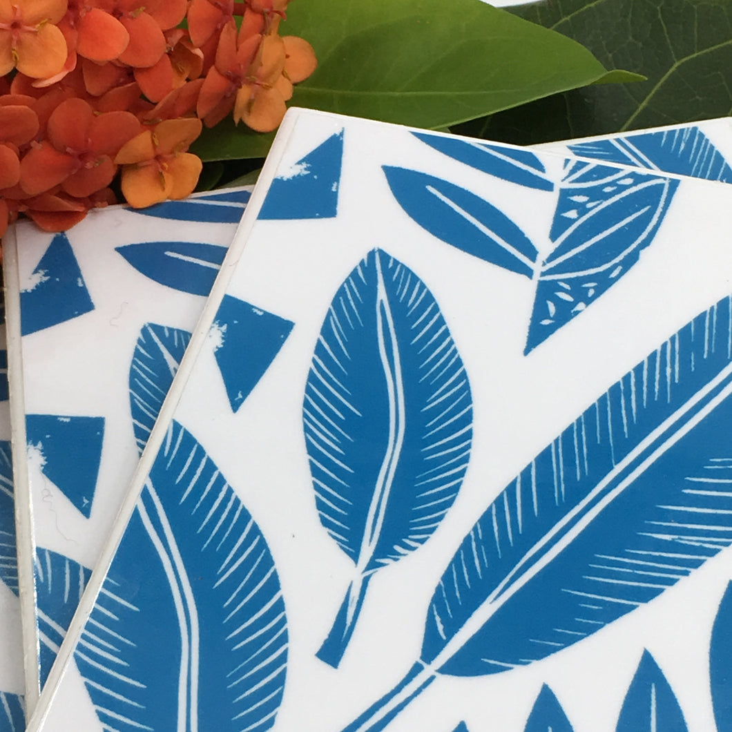 Art of Gudulab Designs (Blue Nature Large) - Set of 4