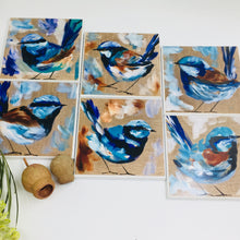 Art by Amanda Brooks (Blue wren mixed) - Set of 6