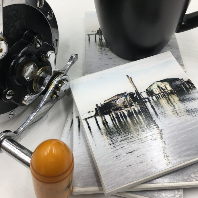 Photoart by Rosemary (Venice fish shacks) Set of 4