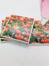Photography by Rosemary (Tulip Red Coasters)- Set of 4