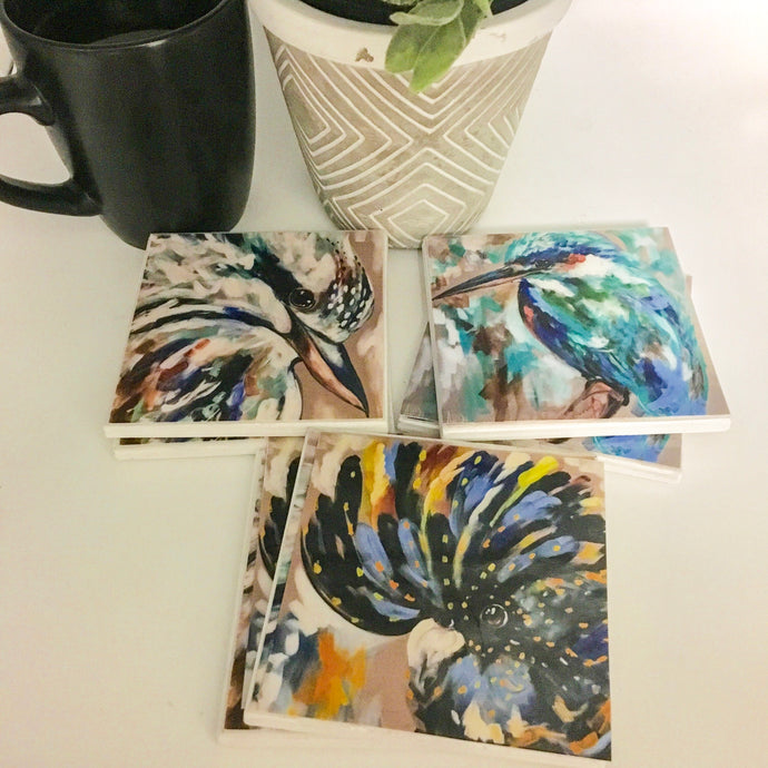 Art by Amanda Brooks (Australian birds) - Set of 6